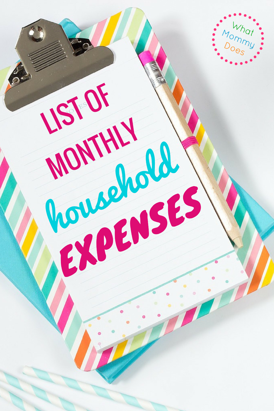 list of monthly household expenses for a basic monthly budget
