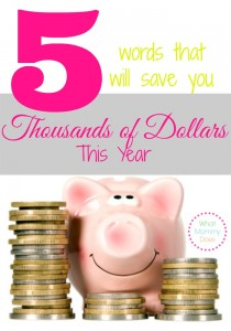 5 ways how to save thousands of dollars this year