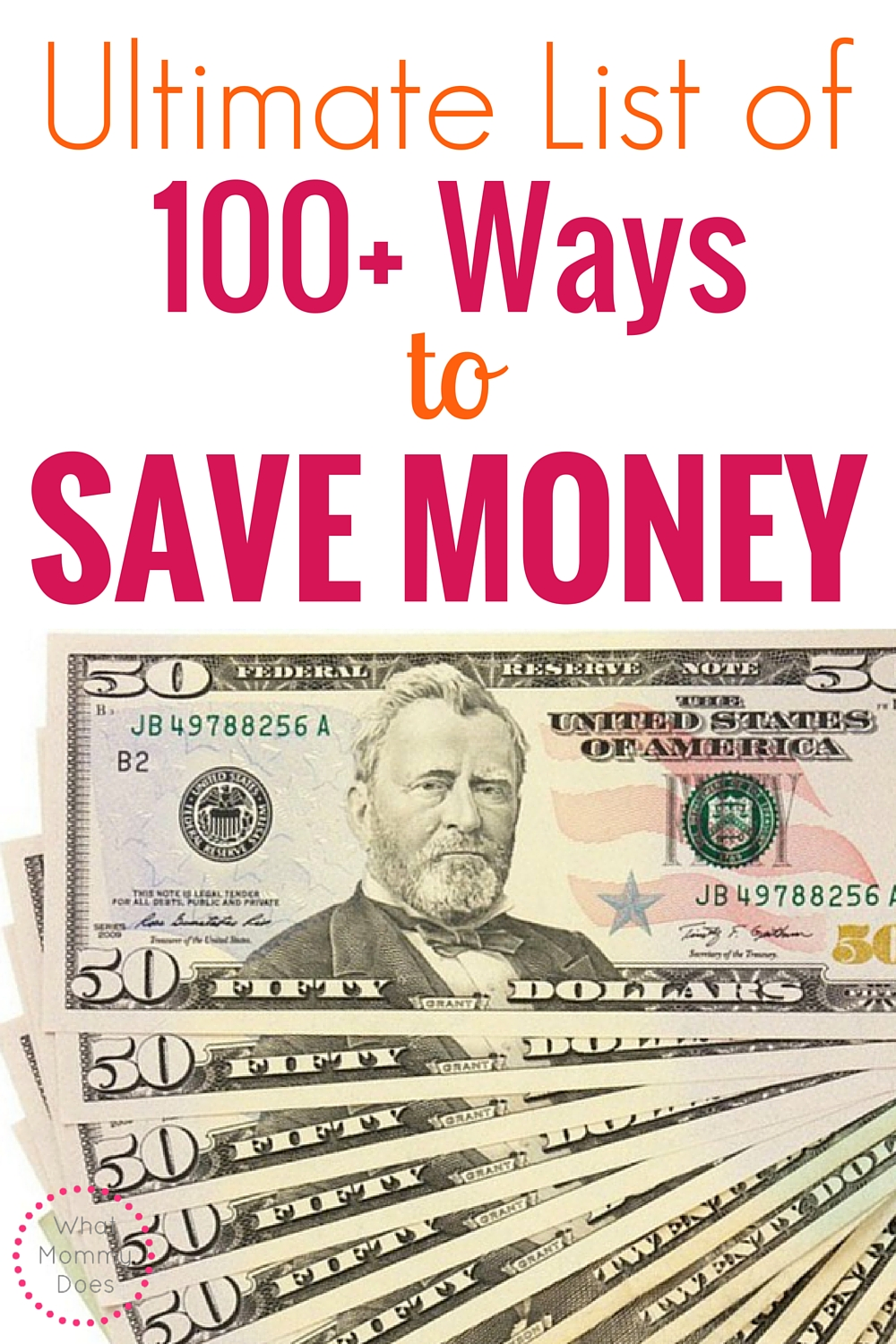100 Easy Ways to Save Money - Take a look at this HUGE list of ways to save money on bills and everything else in your budget!