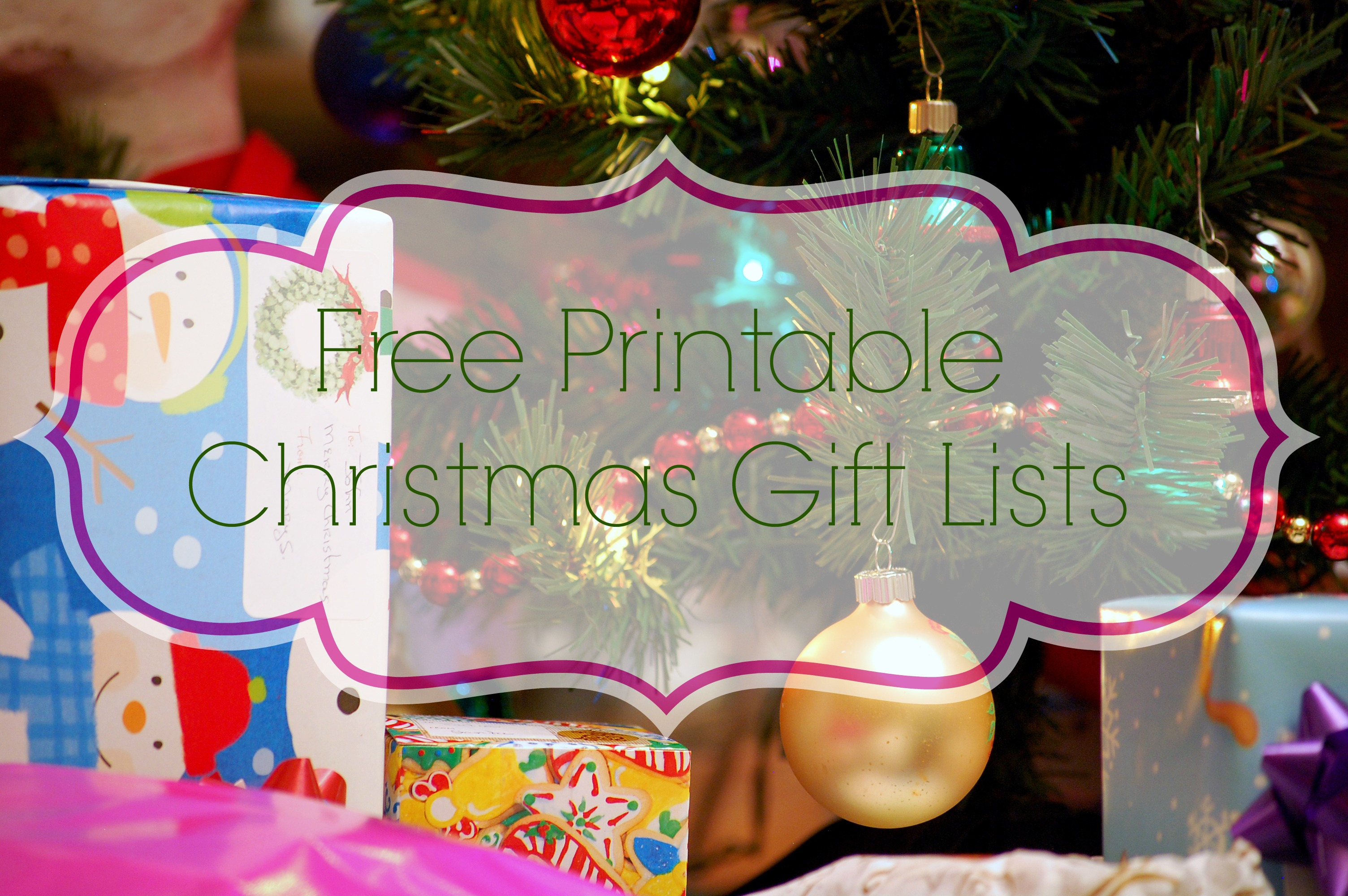 Free Printable Birthday List ~ Printable christmas gift list what mommy does