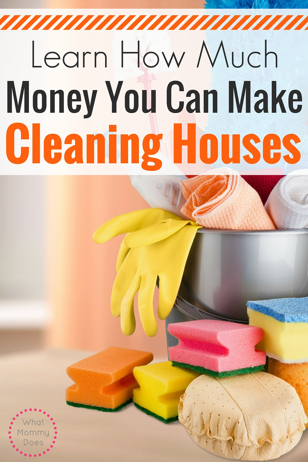 Make Money Cleaning Houses - A great guide to starting a lucrative side hustle by cleaning houses!