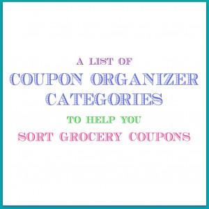 Coupon Organizer Categories pin