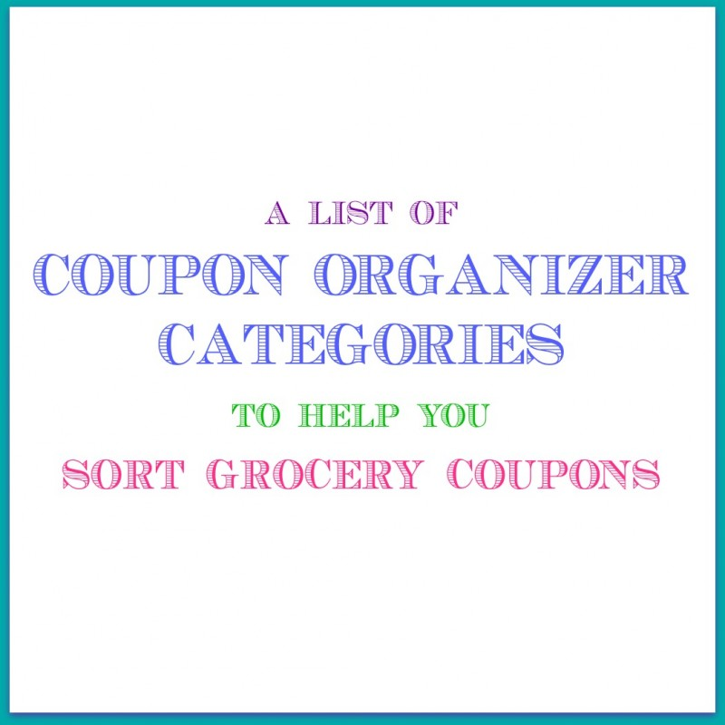 Coupon Organizer Categories How To Effectively Organize Your Coupons