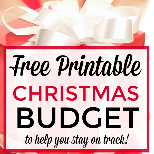 Free Christmas Budget Worksheet