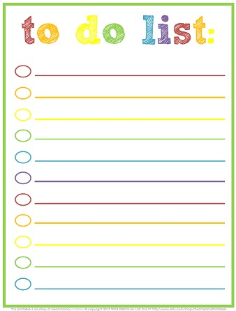 Free Printable To-Do Lists – Cute & Colorful Templates - What