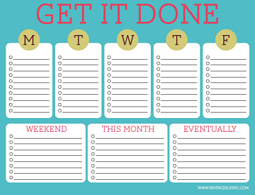 Checklist Template Cute Cute, Colorful & Free Printable To-Do Lists
