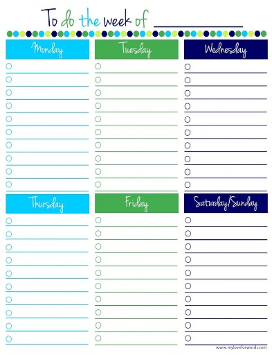 Free Printable ToDo Lists  Cute  Colorful Templates  What