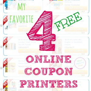 4 Online Coupon Printers – Never Run Out of Grocery & Household Coupons!