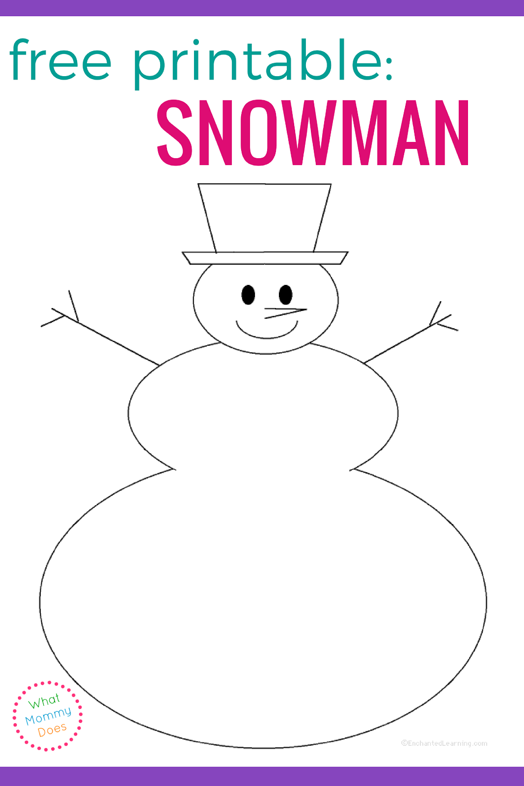 Free blank snowman templates what mommy does for Snowman templates free