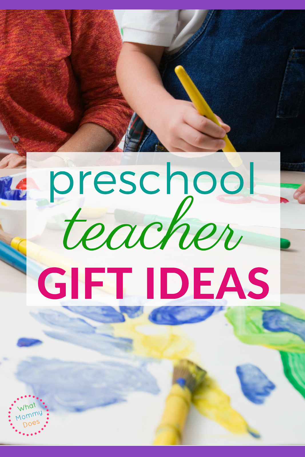 Lots of great preschool teacher gift ideas here! Some are DIY and others can be bought if you don't have the time. A gift is a great way to say THANK YOU to your child's teachers at the end of the year.