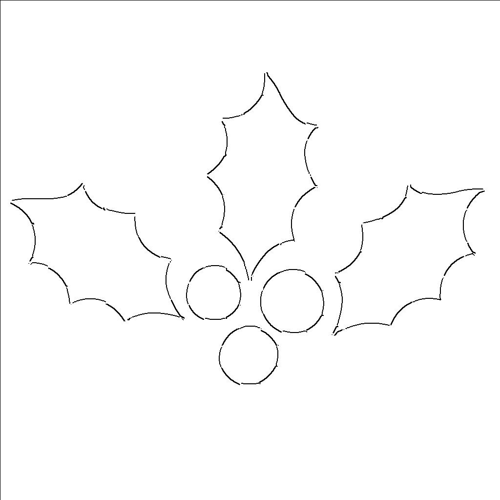 Holly Leaf Templates Free Printable Patterns To Cut Out What