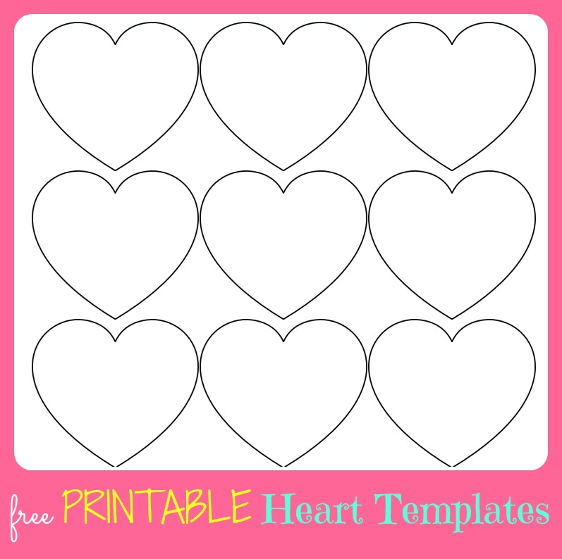 small large heart templates to print out - Valentine Templates Printable