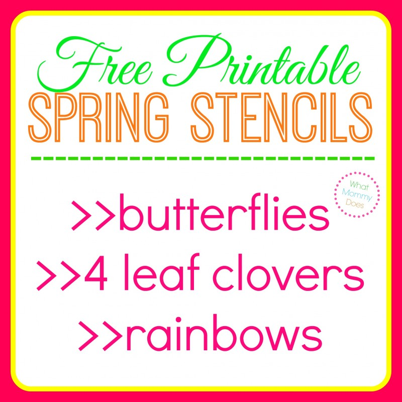 Free Printable Butterfly Stencils, Four Leaf Clover Patterns & Rainbow Templates