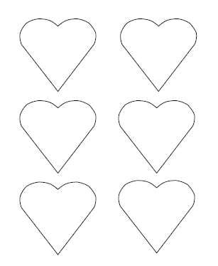 picture relating to Heart Printable called Totally free Printable Centre Templates High, Medium Very little
