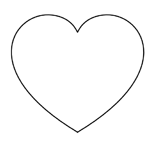 slightly more rounded heart shape the largest you can print on one page i think