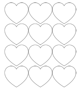 Printable Heart Shapes - Tiny, Small & Medium Outlines ...