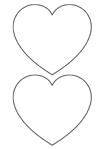 Unusual image intended for heart stencil printable