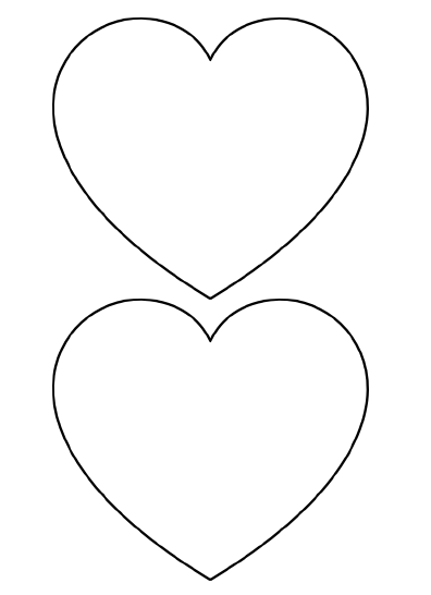 large heart shapes to cut out - Stencil Printouts Free