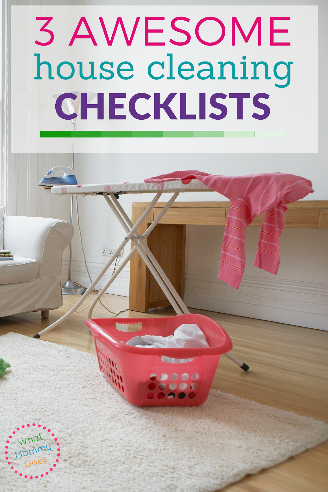 Use a house cleaning checklist to keep your home tidy! This resource provides a list of great weekly chore charts and checklists that are free to download!!