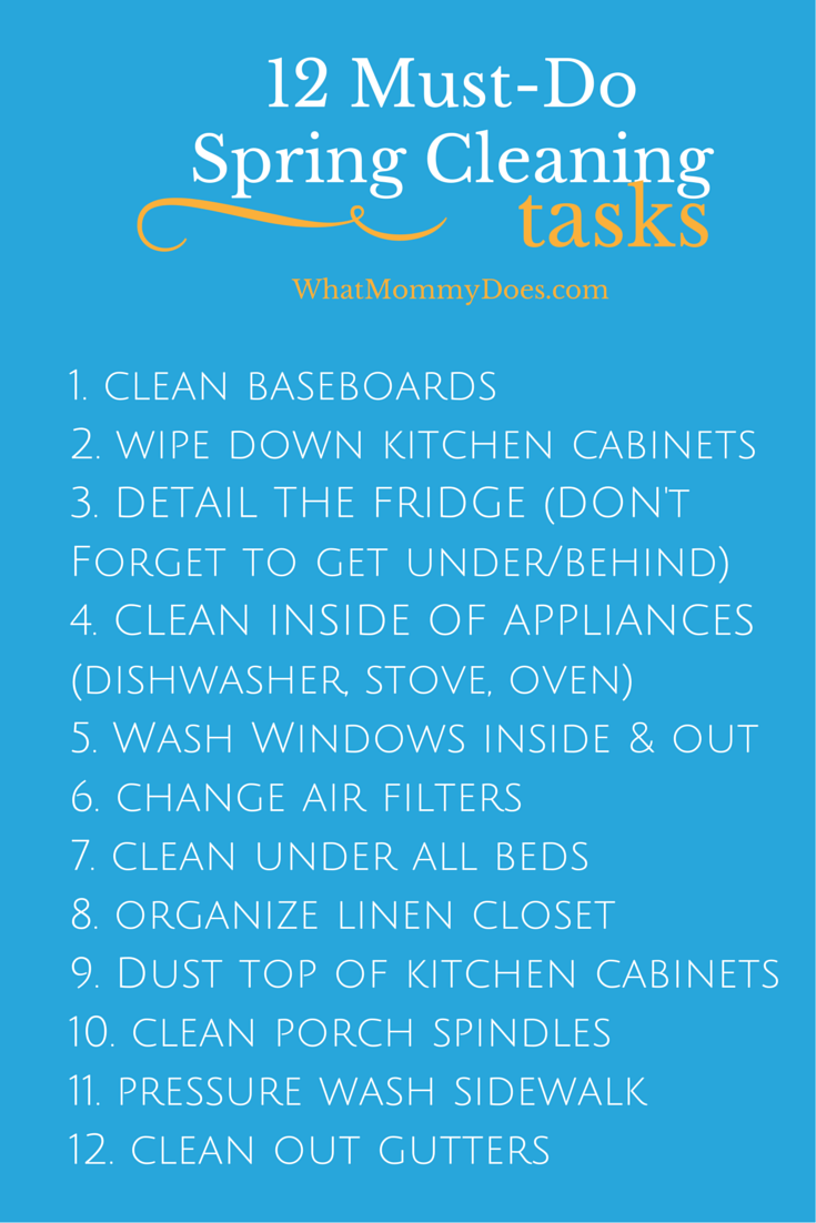 Printable House Cleaning Checklists