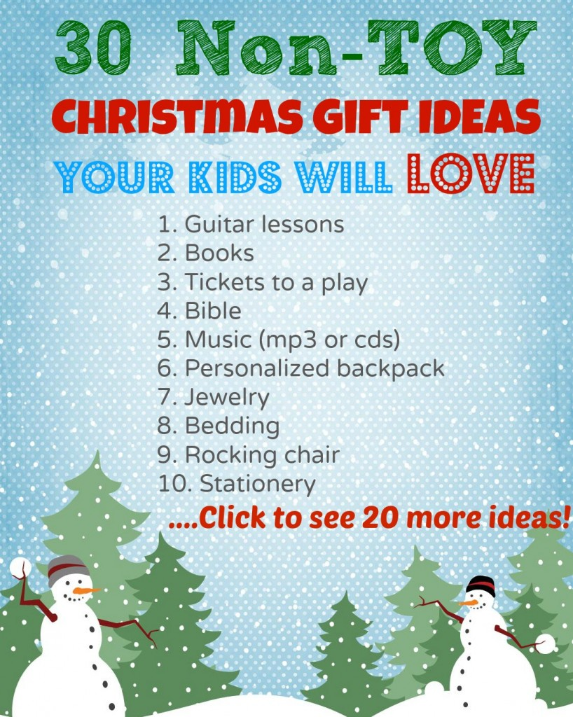 30 non toy Christmas gift ideas for kids