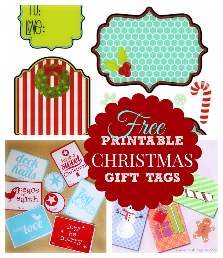 Free printable christmas gift tags templates merry christmas and i negle Gallery