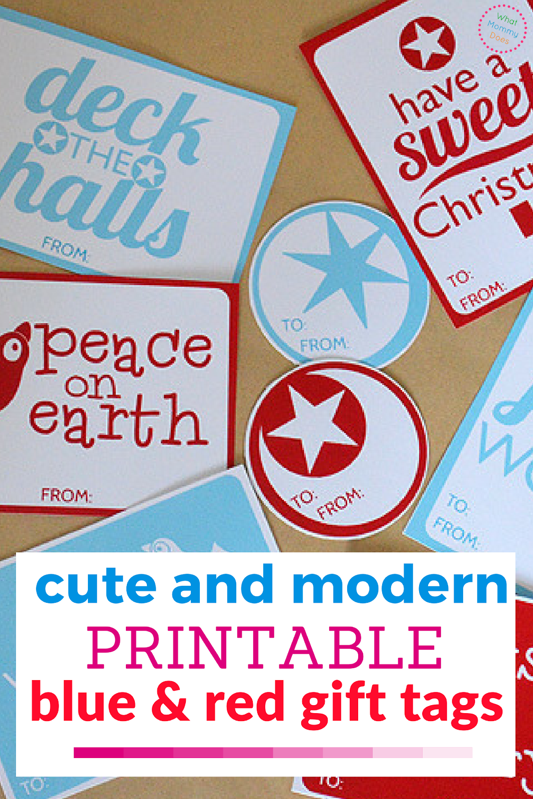 Christmas Tag Printables - Your Christmas gifts will really stand out with these printable gift tags!