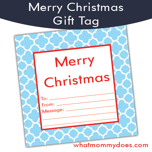 blue quad gift tag