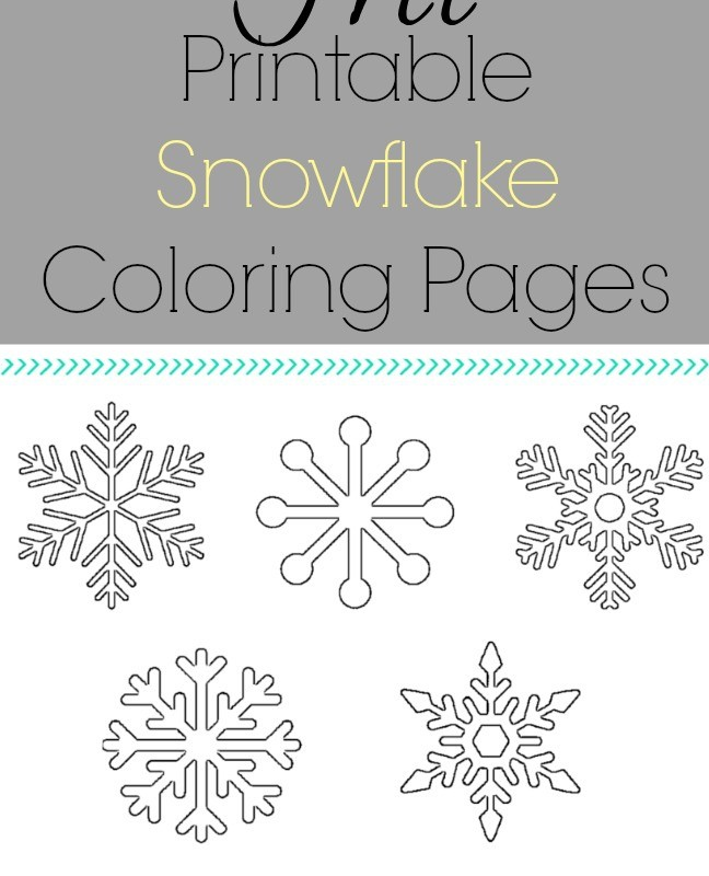 Kid activities 2 3 what mommy does for Snowflakes printable coloring pages