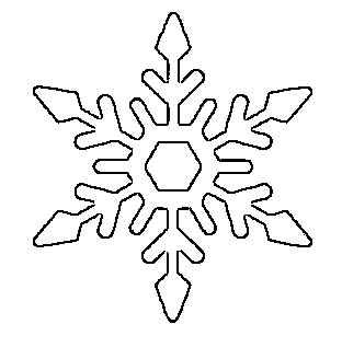 pretty snowflake pattern free printable