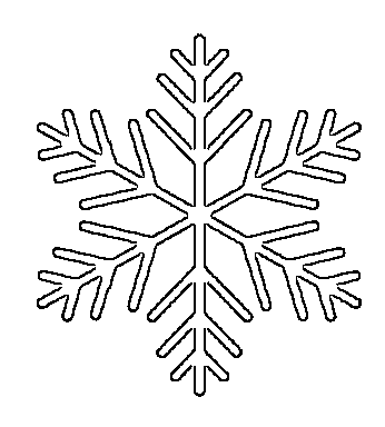 picture regarding Snowflake Printable referred to as Totally free Printable Snowflake Templates Heavy Minimal Stencil