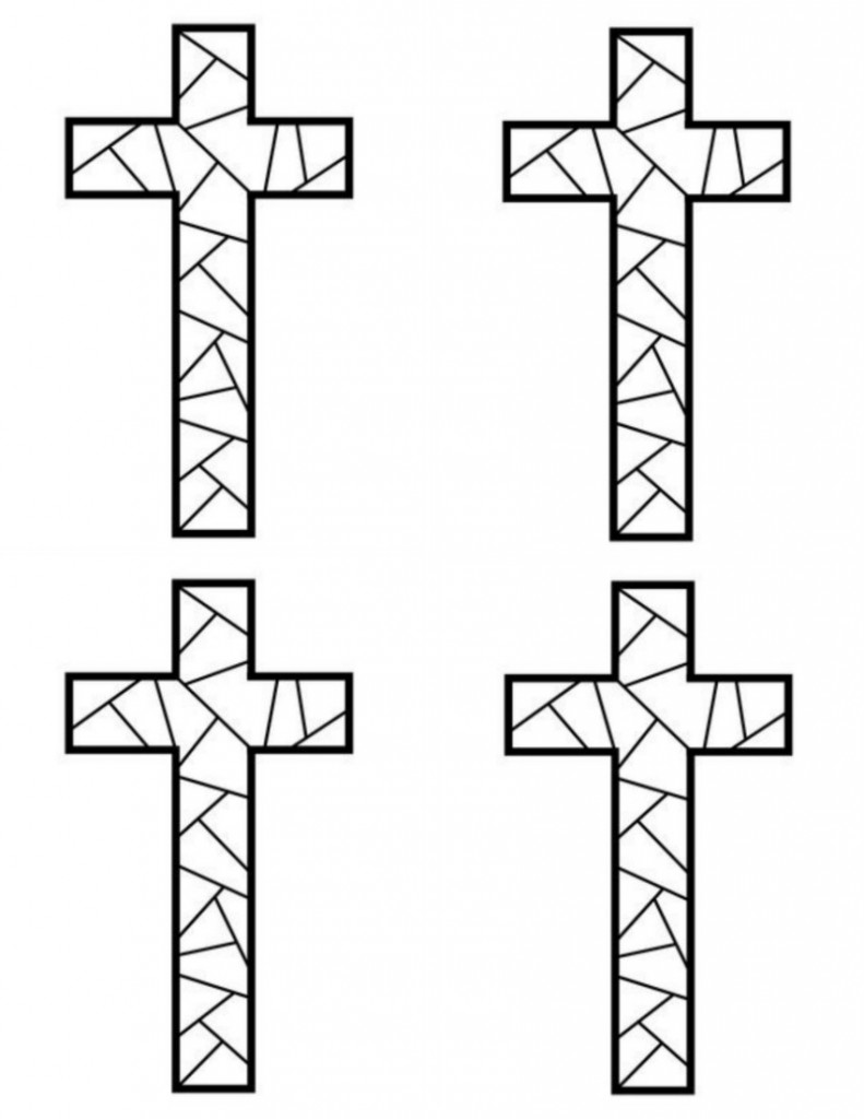 cross coloring pages for free - photo#14