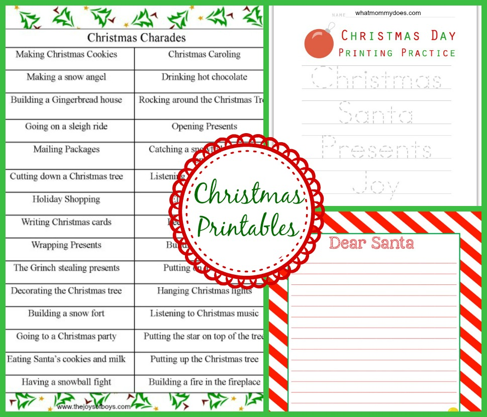 Christmas themed crafts games activities for kids what mommy does christmas printables jeuxipadfo Images