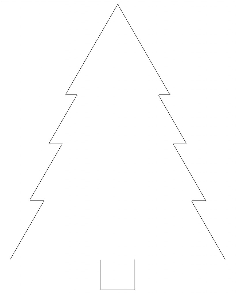Tactueux image pertaining to christmas tree outline printable