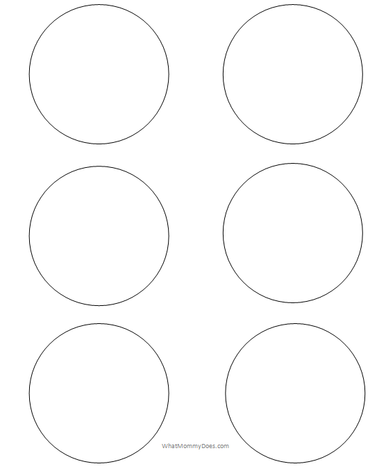 image about Thing 1 and Thing 2 Printable Circles identified as Free of charge Printable Circle Templates - Massive and Little Stencils