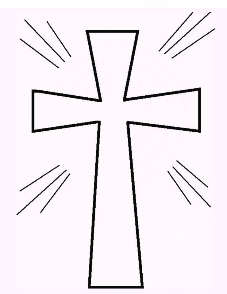 Cross Coloring Page 1