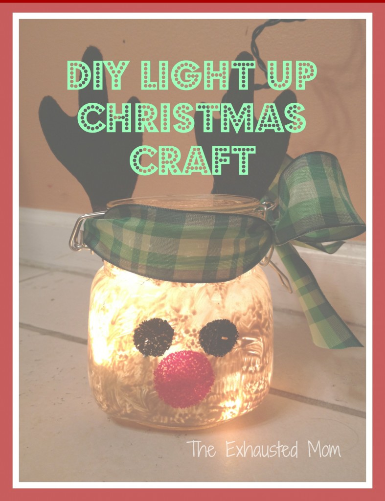 Exhausted mom DIY Christmas light jars