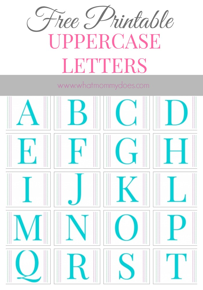 Free Printable Uppercase Letters of the Alphabet