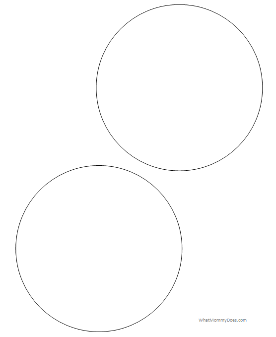 Declarative image throughout printable circle