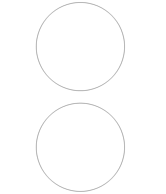 free printable circle templates large and small stencils. Black Bedroom Furniture Sets. Home Design Ideas