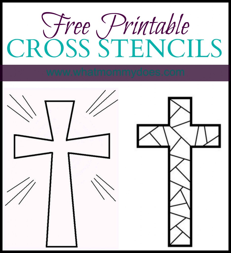 Breathtaking image for free printable cross stencils