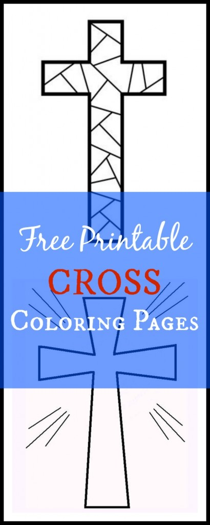 printable cross coloring pages or Christian stencils
