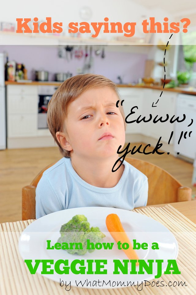 how to become a veggie ninja and get your kids to eat them happily!