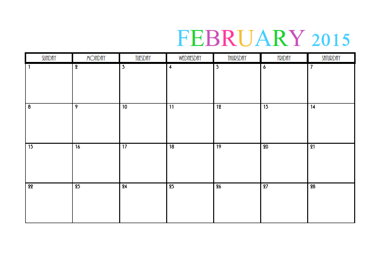 2015 monthly calendar templates february 2015 calendar saigontimesfo