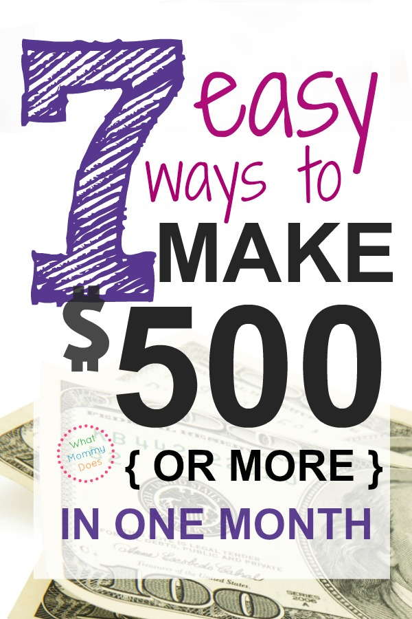 Looking for ways to make extra money from home? Here are 7 easy ways to make $500 to $1,000 extra monthly. They're money-making ideas that have worked for me & my friends.
