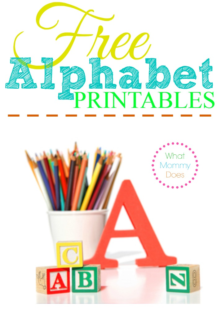 Free Alphabet Printables – Letters, Worksheets, Stencils & ABC Flash ...