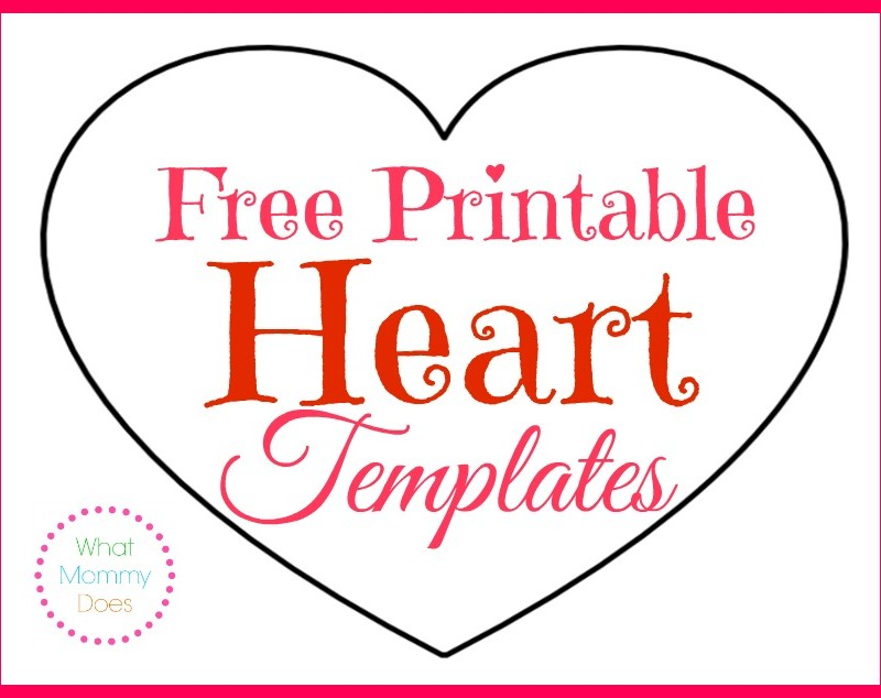 Printable Heart Shapes – Tiny, Small & Medium Outlines