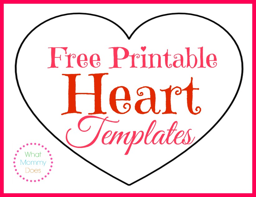Printable Heart Shapes - Tiny, Small & Medium Outlines - What Mommy Does