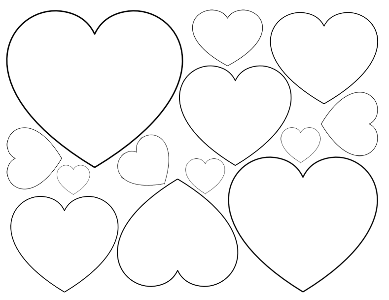 photograph regarding Heart Outline Printable called Cost-free Printable Centre Templates Massive, Medium Lower
