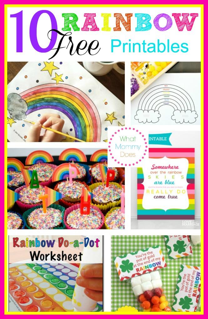 Free Rainbow Printables Coloring